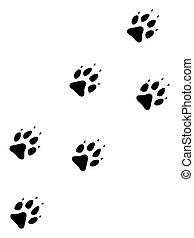 Raster Flat Wolf Track Icon