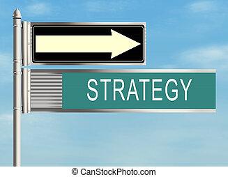 raster, illustration., ciel, signe, arrière-plan., strategy., route