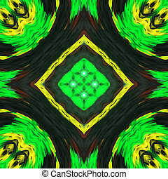 Yellow and green Computer generated design. A fractal is a never-ending pattern. Fractals are infinitely complex patterns that are self-similar across different scales. Great for cell phone wall paper