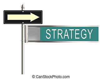 raster, illustration., signe, arrière-plan., strategy., blanc, route