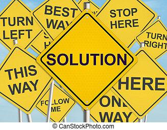 raster, illustration., solution., cielo, segno, fondo., strada