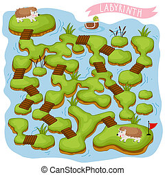 Raster Maze, Logic Game for Kids