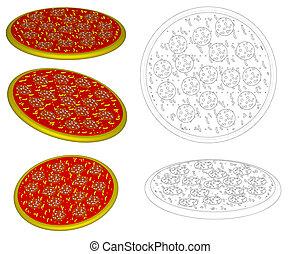 Raster: pizza salami