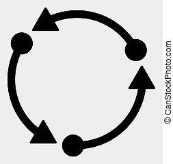 raster, rotazione, sfondo bianco, icona