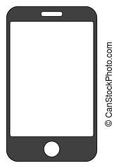 Raster Smartphone V2 Flat Icon Symbol