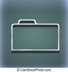 raster, spazio, testo, moderno, simbolo., style., trendy, disegno, 3d, cartella, documento, tuo, icona
