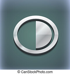 raster, spazio, testo, moderno, simbolo., style., trendy, disegno, 3d, tuo, contrasto, icona