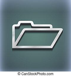 raster, spazio, testo, moderno, simbolo., style., trendy, disegno, cartella, 3d, tuo, icona