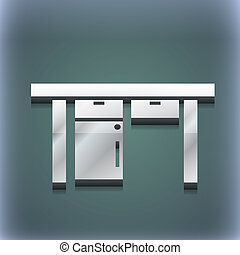 raster, spazio, testo, moderno, simbolo., style., trendy, disegno, tavola, 3d, tuo, icona