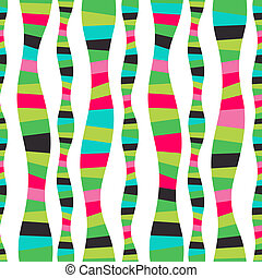 Raster wavy stripes. Mosaic seamless abstract wave background. Colorful abstract hand-drawn pattern, waves background. Serpentine stripe backdrop. Striped background. Watermellon. Bright backdrop.