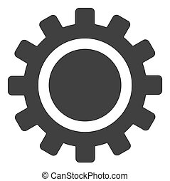 raster, witte achtergrond, cog, pictogram