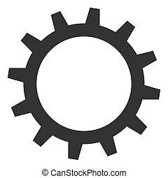 raster, witte , tandwiel, achtergrond, pictogram