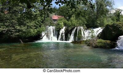 rastoke, chutes d'eau