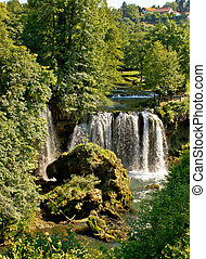 rastoke, grün, kroatien, wasserfall, natur