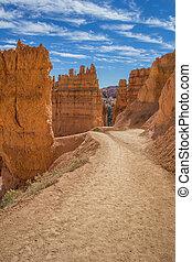 rastro, cañón, navajo, bryce, lazo