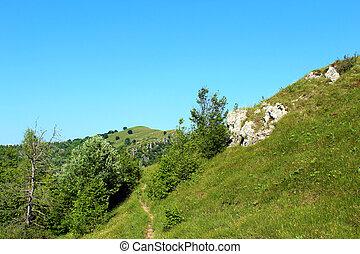 rastro, hiking, montanhas
