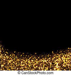 rastro, resplandor, oro, plano de fondo