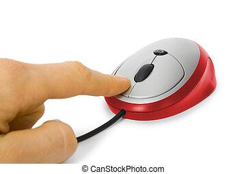 ratón de la computadora, clic