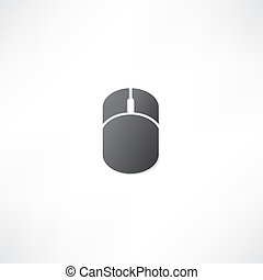 ratón de la computadora, icono