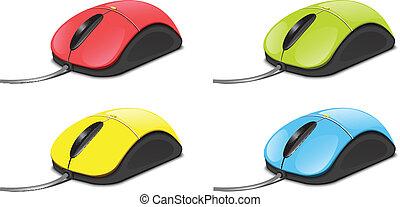 ratón de la computadora, set2