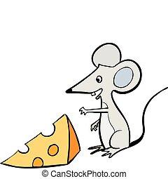 ratón, y queso