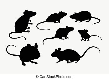 Rat and mouse silhouettes - Rat and mice silhouettes. Good...