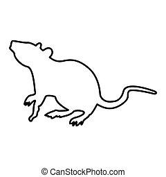 Rat black color icon .