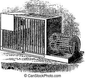 Rat cage vintage engraving