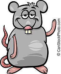 rat character cartoon illustration