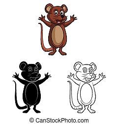 rat, coloration, souris, livre, caracter