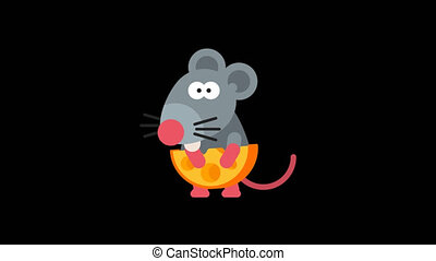 Rat Funny Animal Character Chinese Horoscope. Motion...