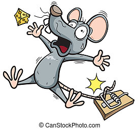 Rat - Vector illustration of A rat is trying to steal a...