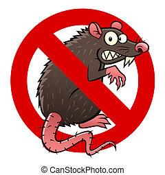 rata, anti, señal