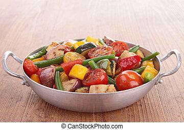 ratatouille, cotto, verdura