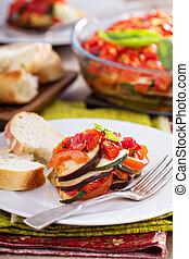 Ratatouille on a plate