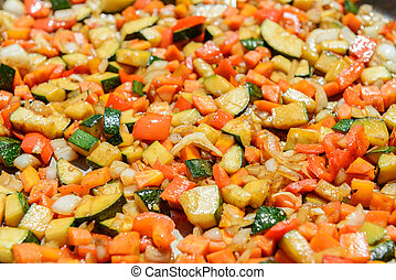 Ratatuille - Vegetable casserole with ingredients similar to...