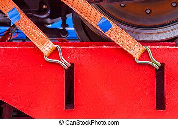 Ratchet lashing - Orange ratchet lashing tie down