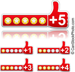 Rate Buttons, vector illustration