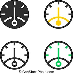 Rate of productivity icons