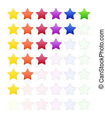 Rate Stars - Set of colorful rate stars for product...
