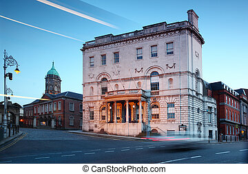 Rates Office in Dublin, Ireland. Designed by the architect Thomas Ivory in 1781, former Newcomen Bank is now used as Rates Office.