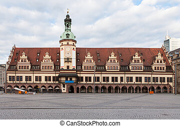 Rathaus (Town hall) in Leipzig - Old Rathaus (Town hall) in...