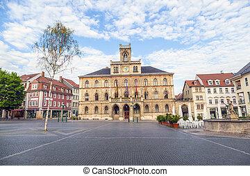 rathaus, weimar, in, deutschland, unesco, welt, erbe, standort