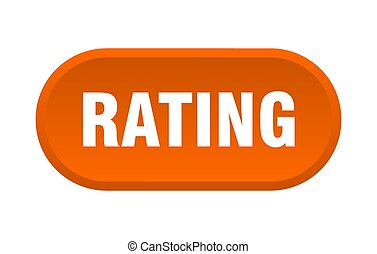 rating button. rounded sign on white background