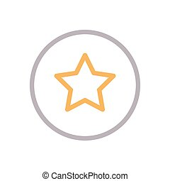 rating color line icon
