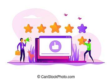 Rating concept vector illustration - Customer feedback, ...