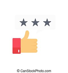 rating  flat color icon