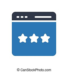 rating glyph color icon