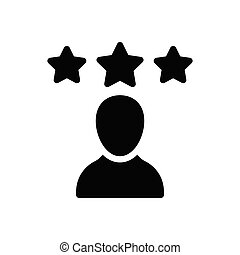 rating glyph flat icon