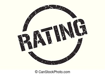 rating stamp - rating black round stamp